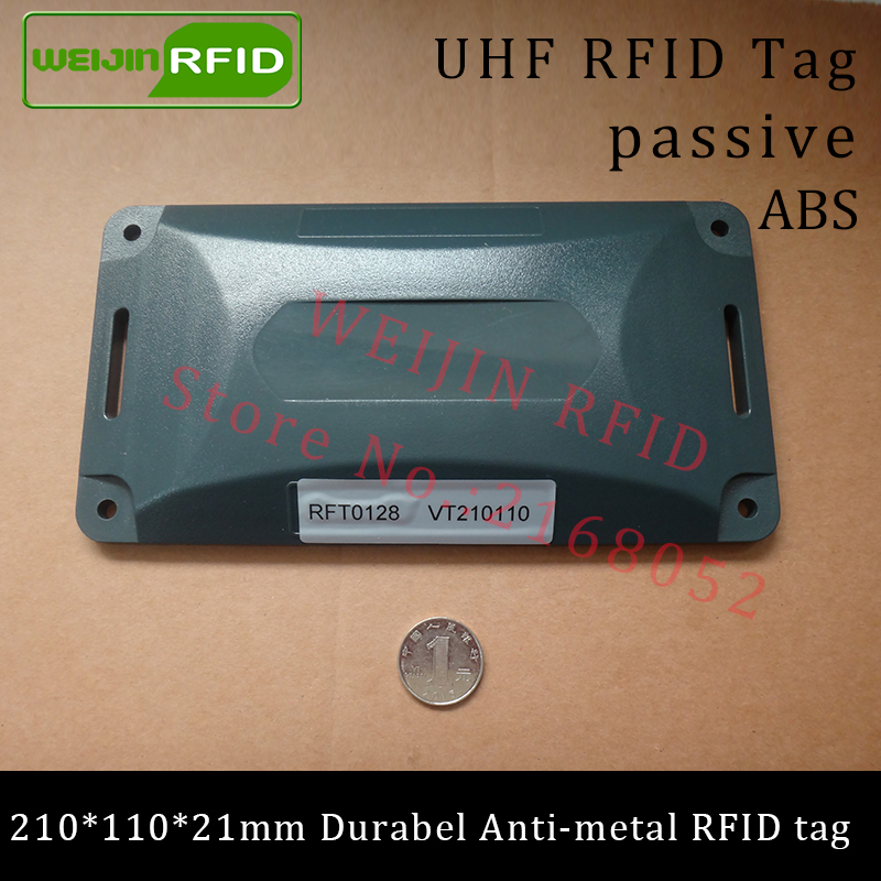 UHF RFID anti-metal tag 915m 868m Alien H3 210*110*21mm EPC Gen2 6C durable ABS very long distance smart card passive RFID tags 500pcs rfid one off coated paper wristbands tag epc gen2 support alien h3 chip used for personnal management