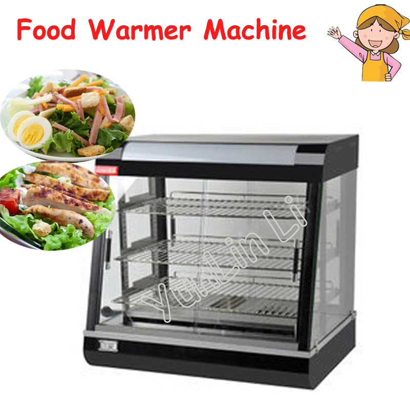 цена Stainless Steel Electric Food Warmer Commercial Three layers Keep Food Warm Heated Display Cabinet Warming Showcase FY-601