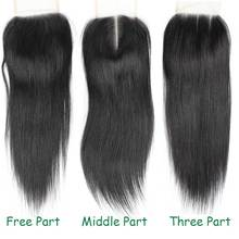 I Do Brazilian Virgin Human Hair Closure 4*4 Straight Lace Closure Bleached Knots Free Middle Three Part Lace Closure