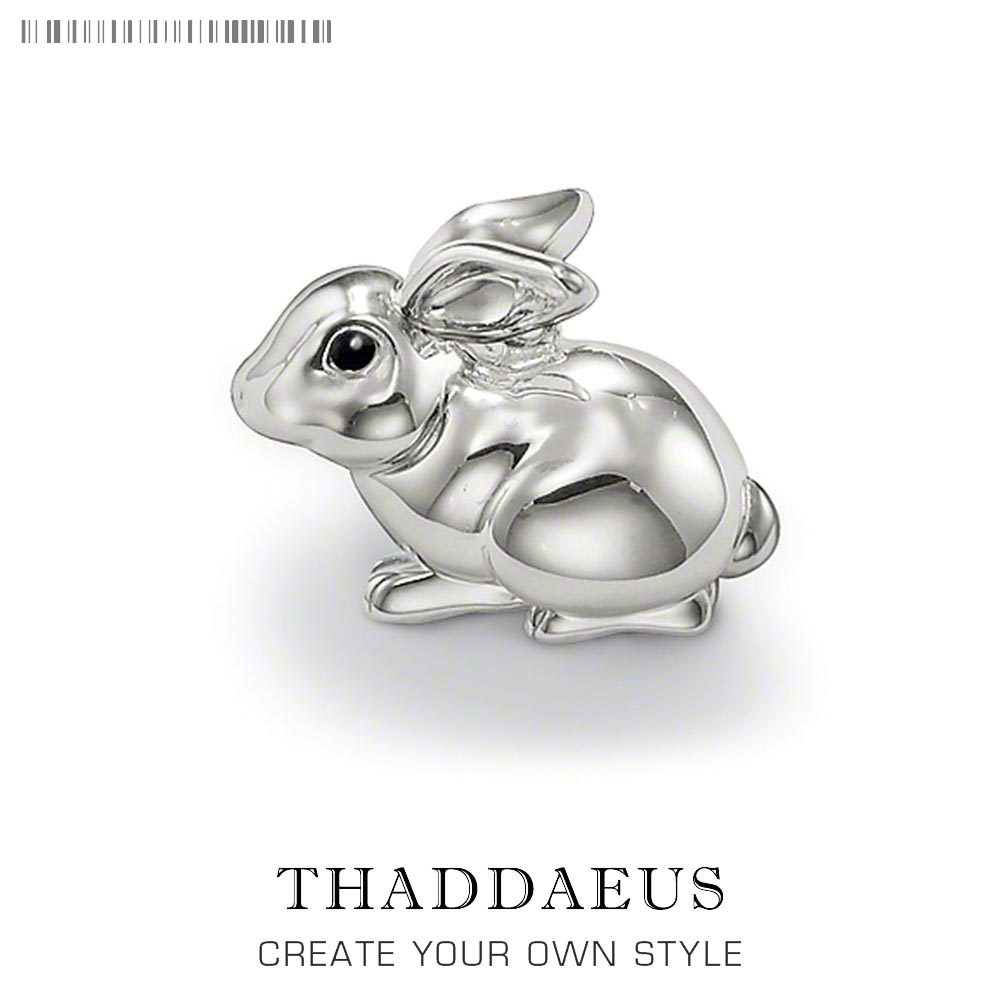 Pendant Bunny Rabbit,2019 Fashion Cute Lovely 925 Sterling Silver Jewelry Thomas Bijoux Cute Accessories Gift For Ts Woman