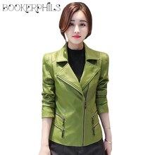 Autumn Winter Leather Jacket Women Short Black Soft Faux Coat Plus Size 2019 Ladies Motorcycle Female Outwear M-4XL