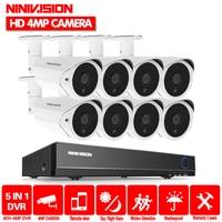 Домашняя 8CH AHD 4MP DVR NVR система безопасности камеры 2560*1440 P HD 4.0MP открытый набор камер наблюдения видео система наблюдения CCTV 8ch