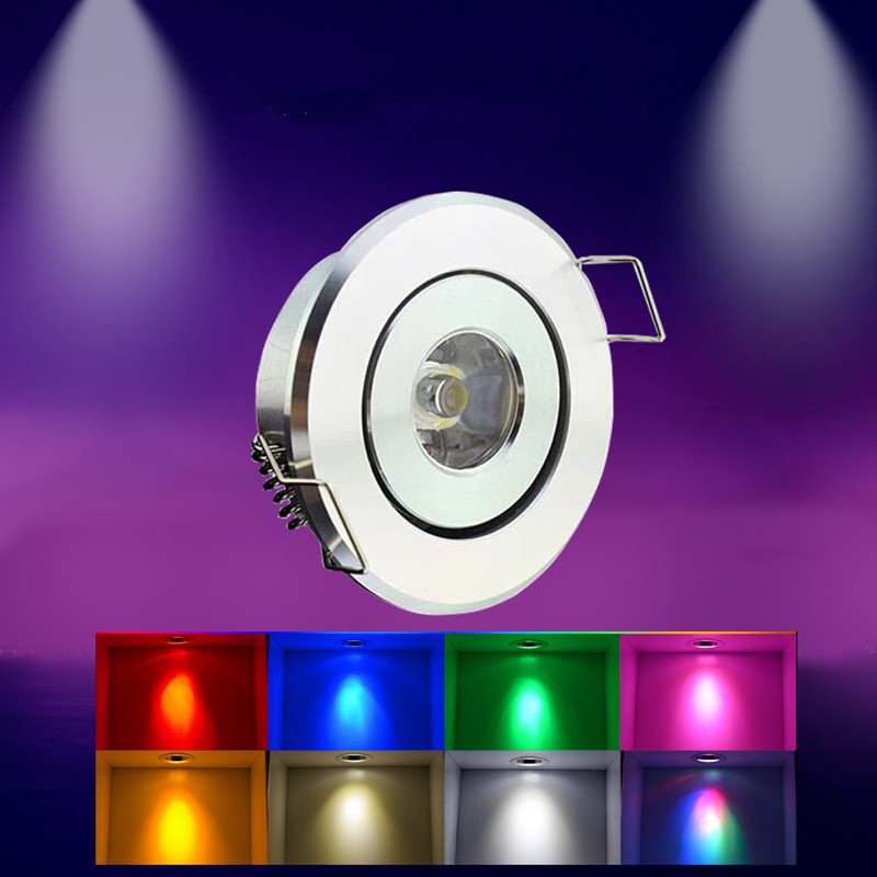 Mini LED Spot Lights Dimmable 3W DC12V Recessed Ceiling Lamp 220V 40-45mm Jewelry Lighting Downlight For Cabinet Showcase Light