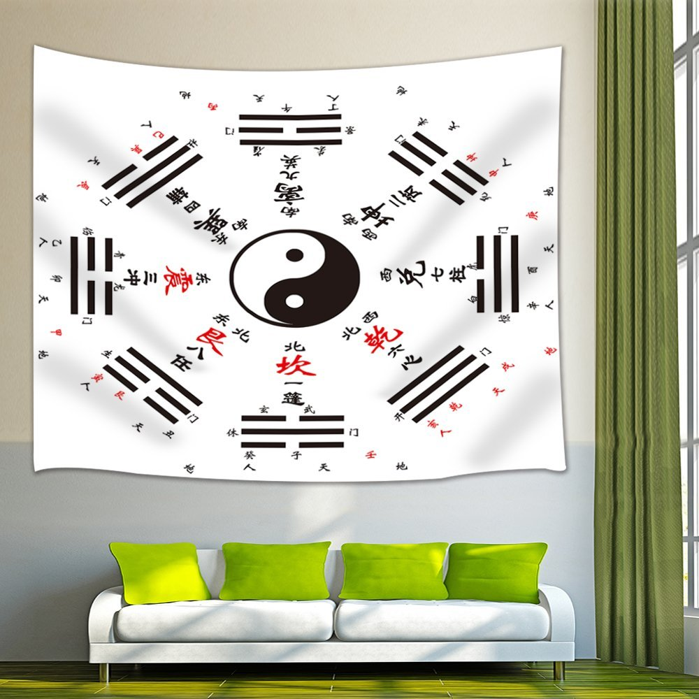 China Lover Taiji Gossip Tapestry Wall Hanging for Bedroom Living Room Dorm Wall Art