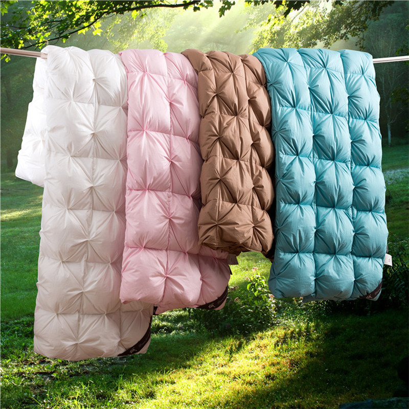 King Queen Twin size 100 Goose Down Soft Duvet Throw Blanket Comforter Bedding Filler Bread Shape