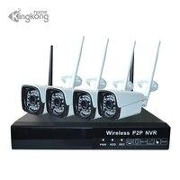 Kingkonghome 2MP ip камера аудио запись Беспроводная система видеонаблюдения домашняя система видеонаблюдения NVR wifi комплекты видеонаблюдения наб