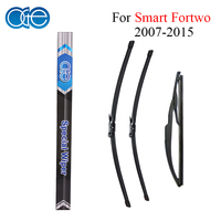 Front Rear Wiper Blade For Smart Fortwo 2007 2015 High Quality Silicone Rubber Window Windscreen Windshield