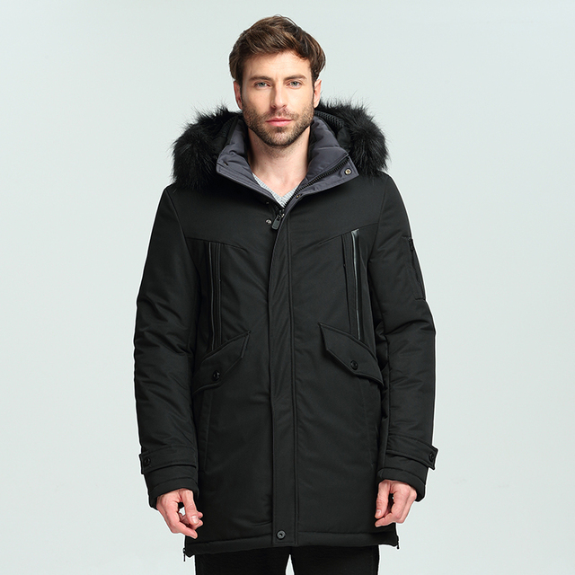 ed638f446 Mens Jackets Male Trench Coat 2018 Brand Winter Parkas Jacket Men Fur  Collar Cotton Quilted Long Parka Jacket Coat Size M 3XL-in Parkas from  Men's ...