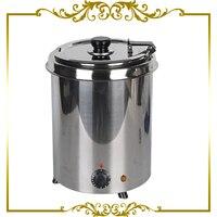 Electric Commercial 5 7L Soup Kettle Warmer Pot Wet Heat Stainless Steel Buffet