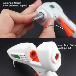 Image 3 - Free Shipping 40W Glue Gun Set Electric Heat Hot Melt Crafts Repair Tool Professional DIY 110 240V 40W Gift