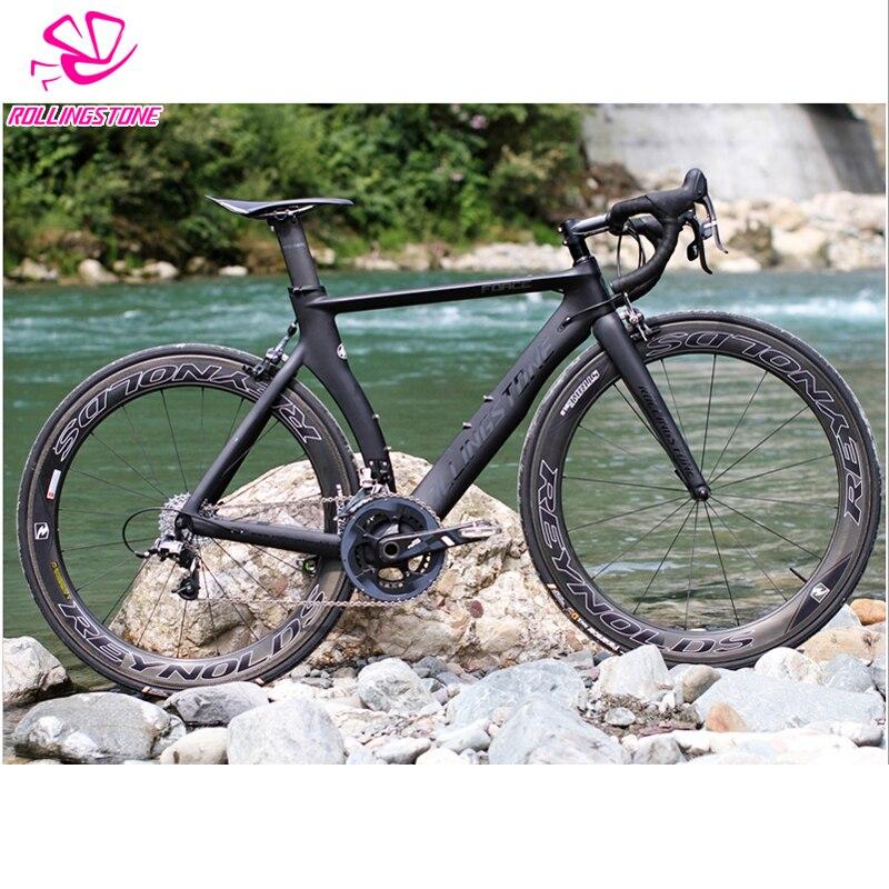 Roulement pierre Force aérodynamique cadre en carbone route vélo cadre route vélo cadre 51.5 cm