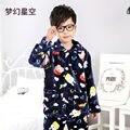 Natal da família de Manga Longa Com Capuz Calças crianças Calças de Pijama Pijamas de Flanela Pijamas Meninos das Crianças Casaco Com Capuz Roupas Meninos Pijama