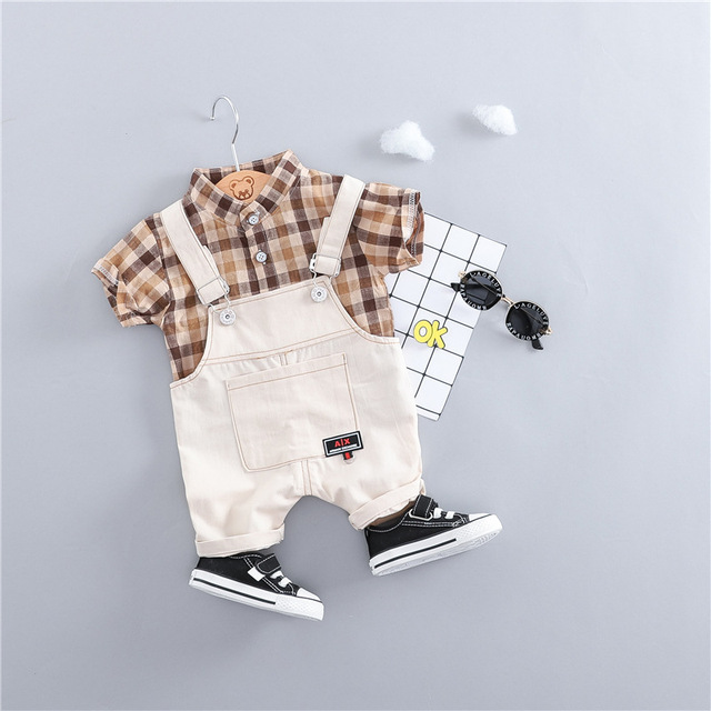Baby Boy Shirt Straps Two-Piece