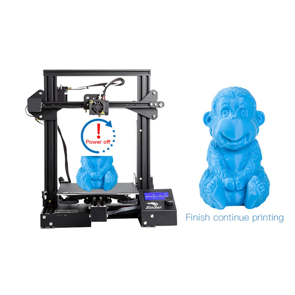 Creality 3D Ender 3 PRO 3D impresora mejorada Cmagnet Build Plate CV Impresión de fallo de energía KIT de bricolaje MeanWell fuente de alimentación - 6