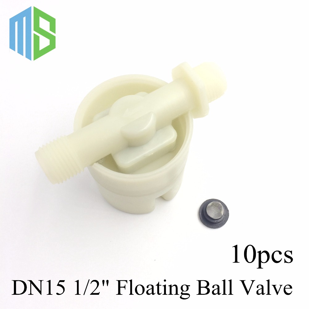 10pcs DN15 1/2 Floating Ball Valve Automatic Float Valve Water Level Control Valve F/ Water Tank Water Tower Free Shipping 1 pt thread water sensor float plastic float valve floating ball