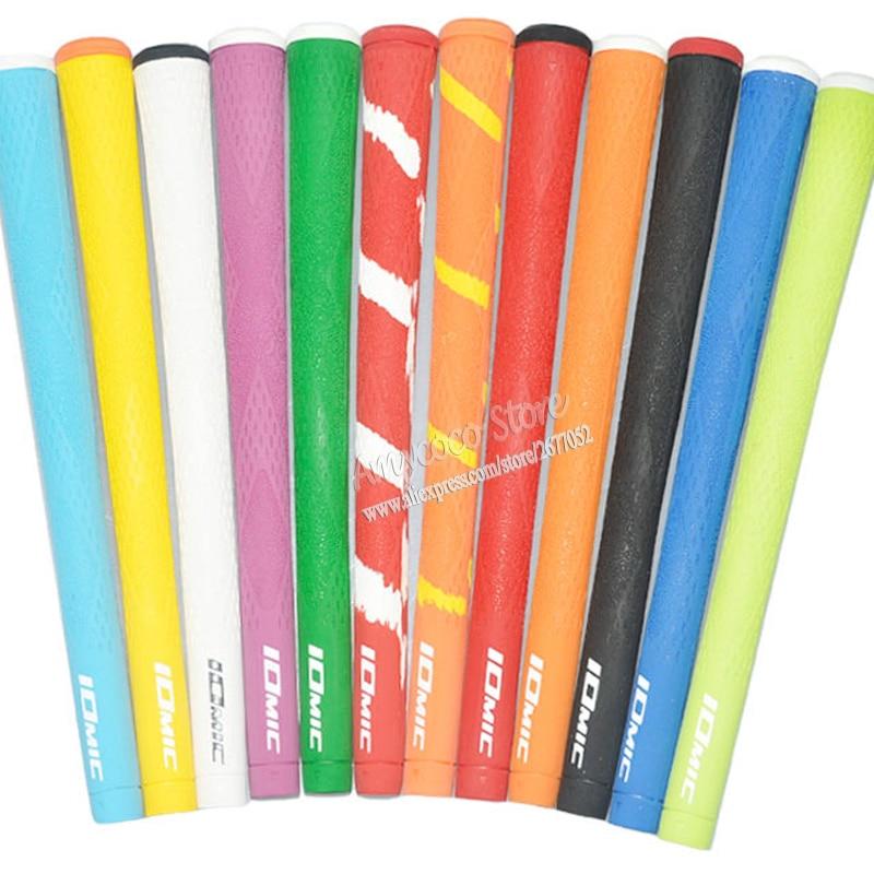 Novi IOMIC Golf ročaji Visokokakovostni gumijasti Golf lesni držaji 9 barv v izbiri 13pcs / lot Golf Likalniki Golf Likalniki Brezplačna dostava