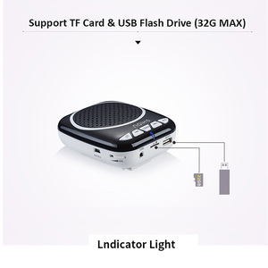 Image 4 - Портативный голосовой усилитель SHIDU, Мегафон, мини аудио колонка с микрофоном, перезаряжаемый Сверхлегкий Громкий динамик для учителя 308
