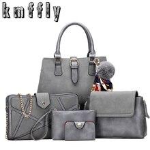5pcs Set Women Handbag Scrub Litchi Pattern Composite Bags Designer Purses And Handbags Clutch