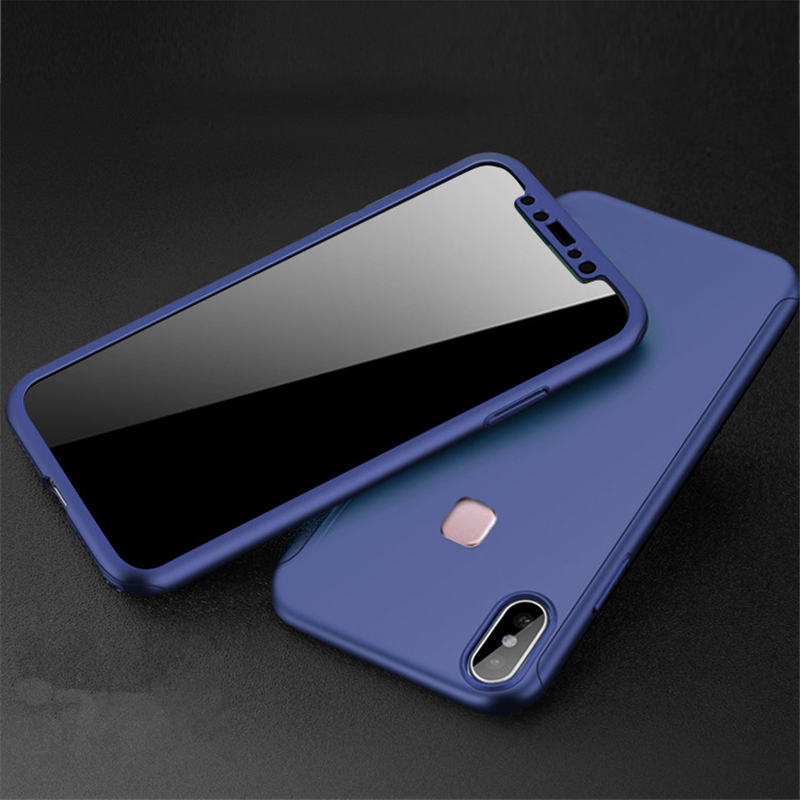 360 Full Protection PC Hard Cases For Xiaomi Redmi Note 5 Pro Back Cover For Redmi Note 5 Matte Coque Fundas With Glass Film