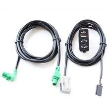 Interruptor + Fio USB Aux Cabo Adaptador Para BMW E60 E61 E63 E64 E87 E90 E70 F25 F01 F02 F03 F04 F12 F13