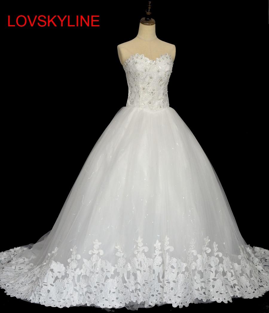 Wedding Dress Tube Top 2018 Princess Bride Long Trailing