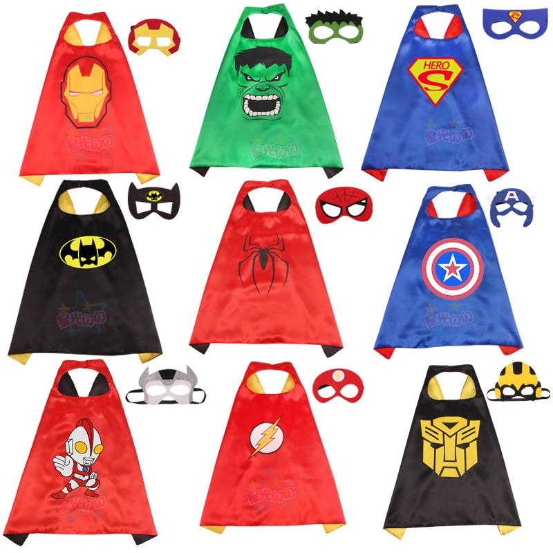 Children's Cloak COSPLAY Avengers Alliance Hero Superman American Captain Batman Spider-Man Printed Cloak Drama Costume AC-03
