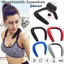 Bluetooth Speaker Portable Music Neckwear Stereo Wearable Subwoofer Sports Wireless