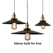 Vintage Edison Pendant Lights Iron Industrial Lighting Rope Suspension Hang Lamps Dining Living Room Bar Cafe Droplight Fixtures