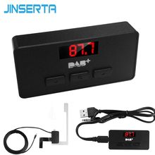 Jinserta Mini Dab/Dab + Radio Fm Tuner Receiver Stick Met Led Display Digitale Audio Broadcasting 3.5Mm Aux interface(China)