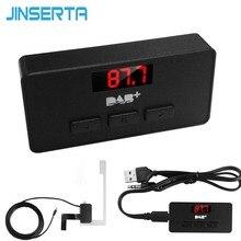 Jinete mini vara dab/dab + rádio fm, com display led, transmissão digital, para áudio, 3.5mm, aux interface