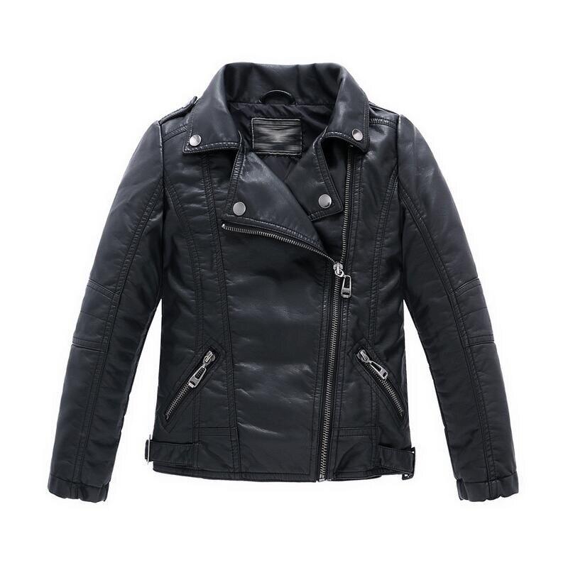 Aliexpress.com : Buy Teenager Girl Boys Leather Jacket Boys Casual ...