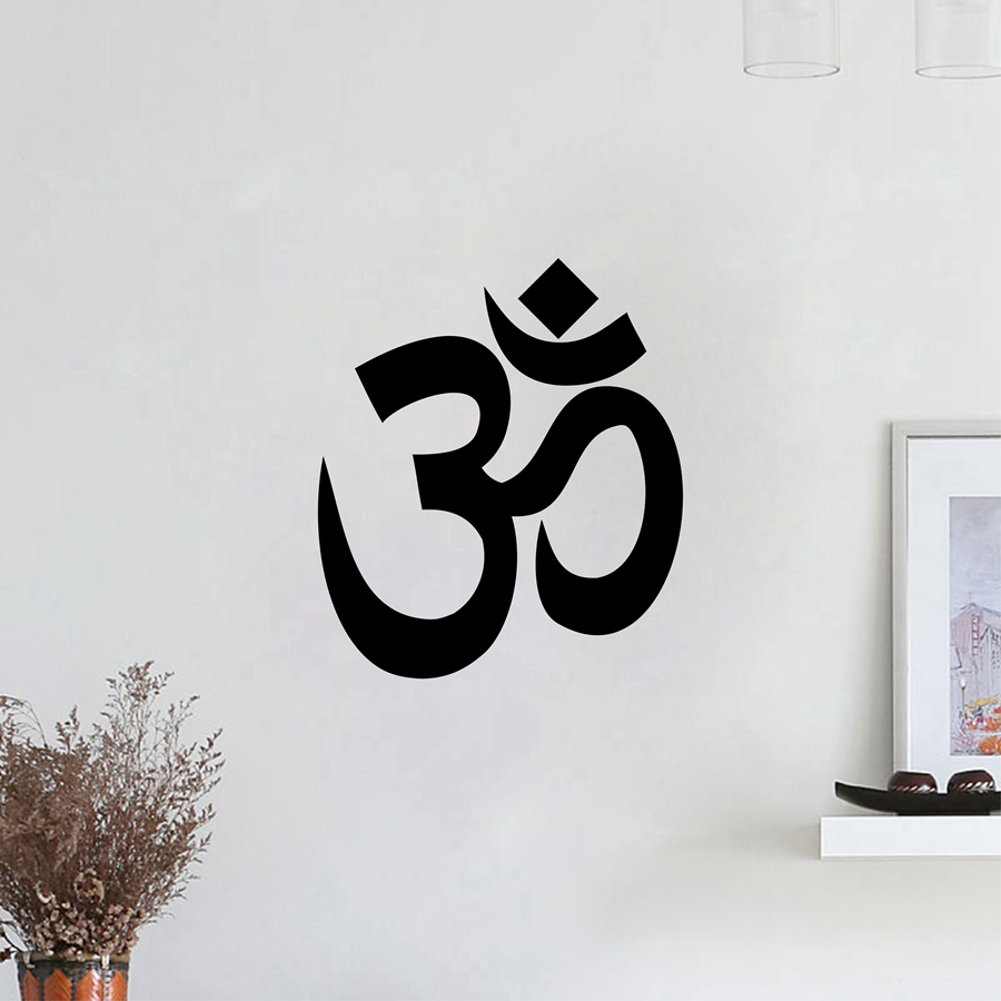 Yoga wall vinilos paredes om vinyl wall sticker ohm decals wall quote wall decals desivo de parede home decoration
