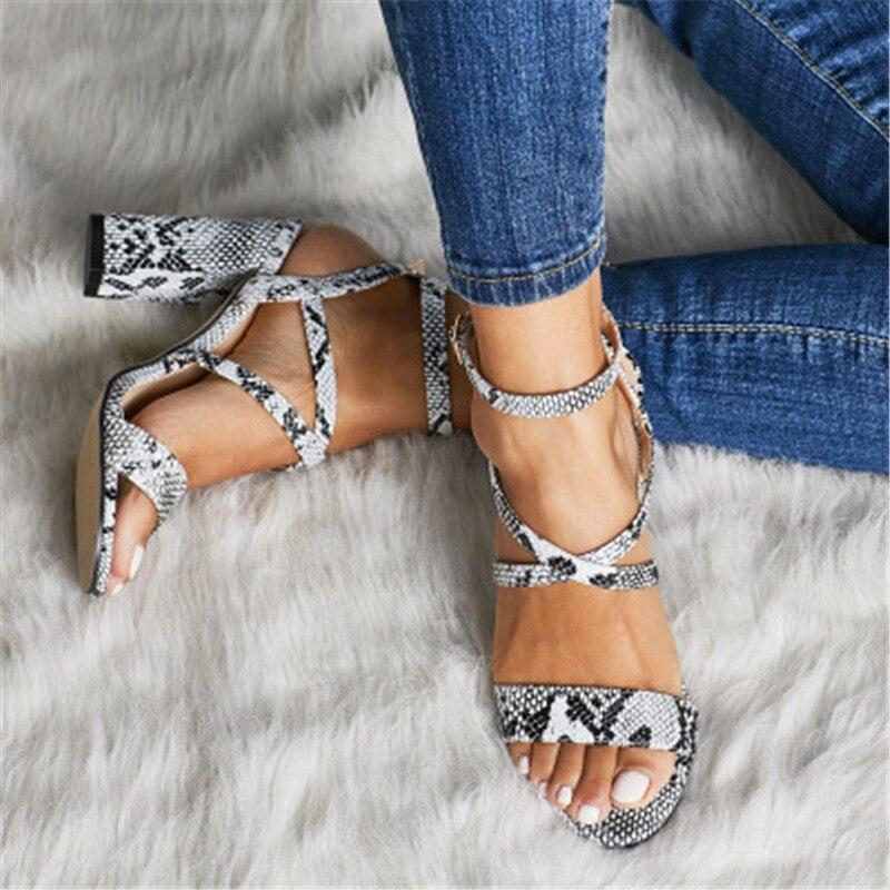 Sandalias De Grande Nueva Verano 2019 Zapatos Serpiente 1 Mujer CxQrsBtdh