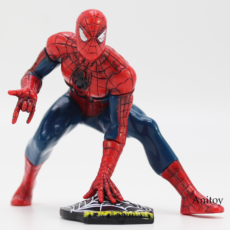Spider-Man:Homecoming The Spiderman PVC Figure Collectible Model Toy Car Decoration Doll 8cm neca planet of the apes gorilla soldier pvc action figure collectible toy 8 20cm