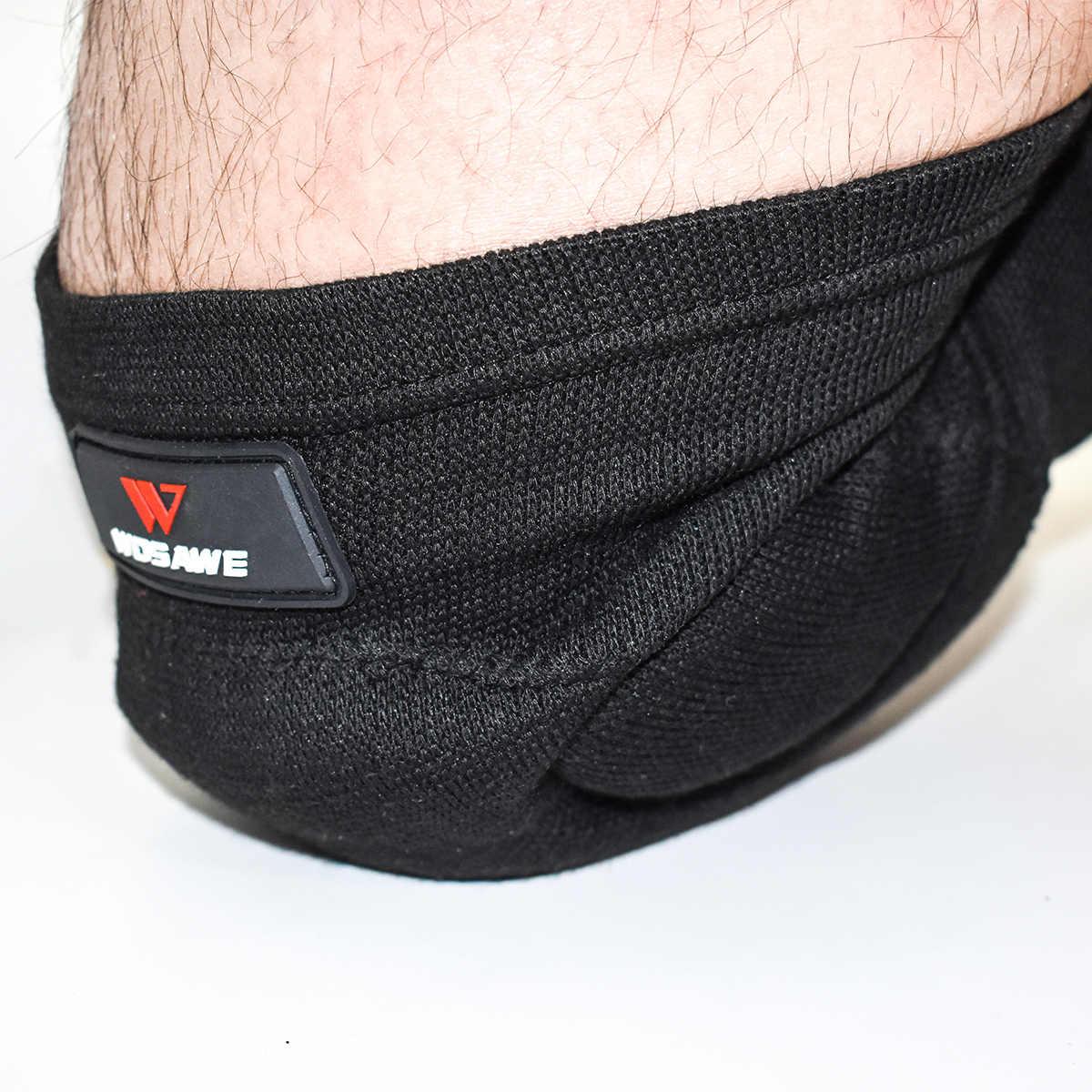 Wosawe rodilleras mtb cotovelo ao ar livre joelheiras coderas proteção mtb guarda protetor ciclismo vôlei suporte de joelho cinta