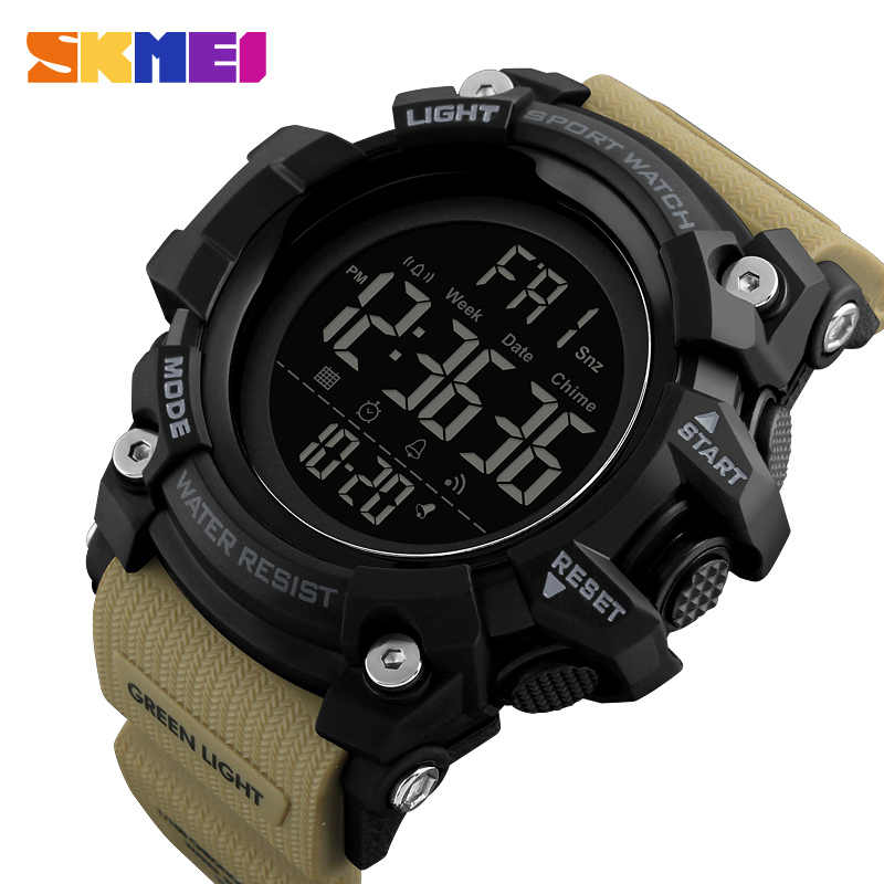 SKMEI Men's Sports Watch Fashion Digital Mens Watches Waterproof Countdown Dual Time shock Wristwatches Relogio Masculino