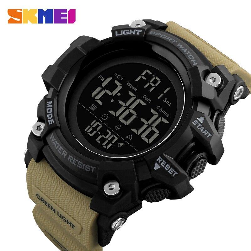 Reloj deportivo SKMEI para hombre a la moda relojes digitales para hombre a prueba de agua cuenta regresiva relojes de pulsera de choque Dual