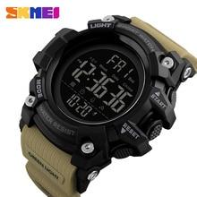 Часы наручные SKMEI Мужские Цифровые, модные водонепроницаемые, с обратным отсчетом и двойным временем