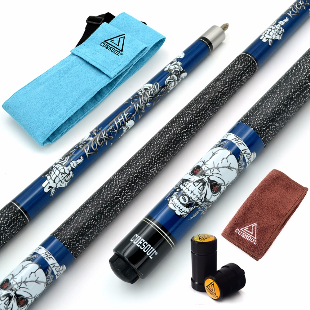 CUESOUL ROCK II 57 19/20/21 oz Blue Pool Cue Stick With Cue Bag