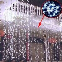 Free Shipping 3MX3M 300LED led Christmas Light fairy lights lighting Xmas party garden Wedding Curtain LED string