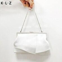 цена на Women's Clutch Bag Luxury Silk Bag Buckle Buckle Evening Bag Wedding Handbag Shoulder Bag Ladies Small Bag