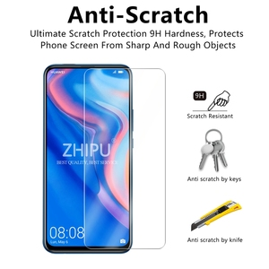 """Image 3 - 2 Pcs Tempered Glass For Huawei P Smart Z Screen Protector 2.5D 9H Tempered Glass For Huawei P Smart Z Protective Film 6.59"""" *"""