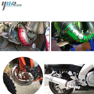 Image 5 - YUANQIAN Exhaust Muffler Pipe Leg Protector Heat Shield Cover For YAMAHA YZ426F/450F 2001 2007