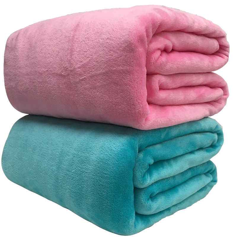 Soft Warm Coral Fleece Blanket Winter Sheet Bedspread Sofa Plaid Throw 220Gsm 6 Size Light Thin Mechanical Wash Flannel Blankets