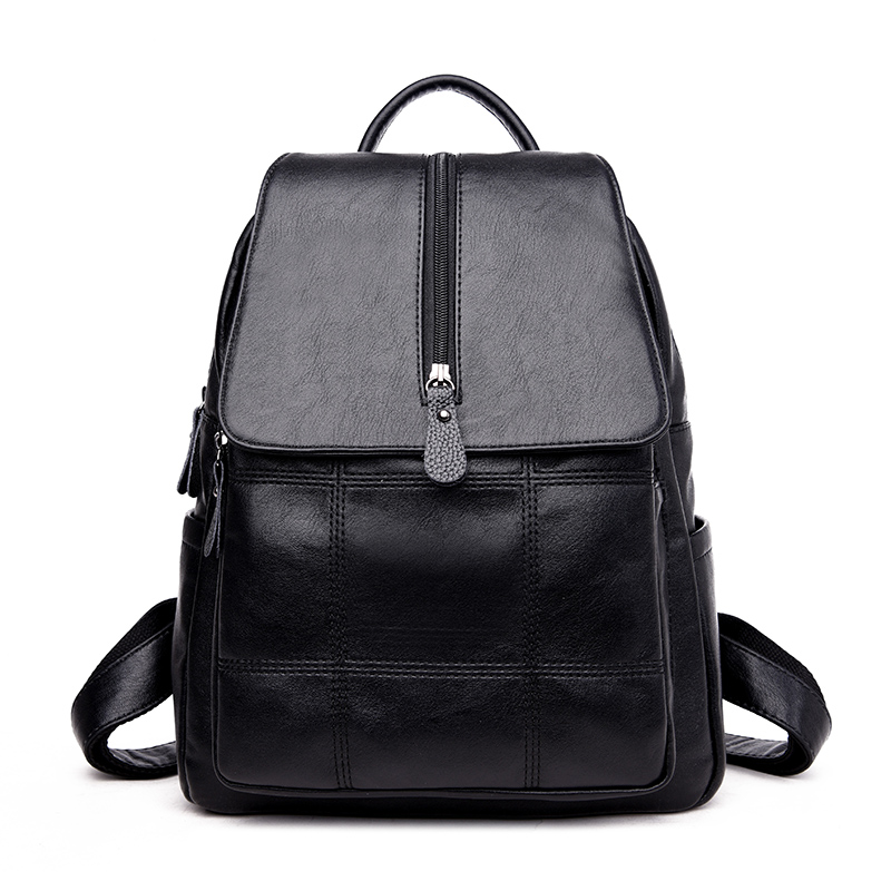 Fashion Women Backpack Leather School Bags For Teenagers Girl's Travel Bag Designer High Quality Famous Brand Backpacks Mochilas tcttt new 2016 travel bag women laptop backpacks girl brand rivet backpack fashion chains knapsack school bags for teenagers