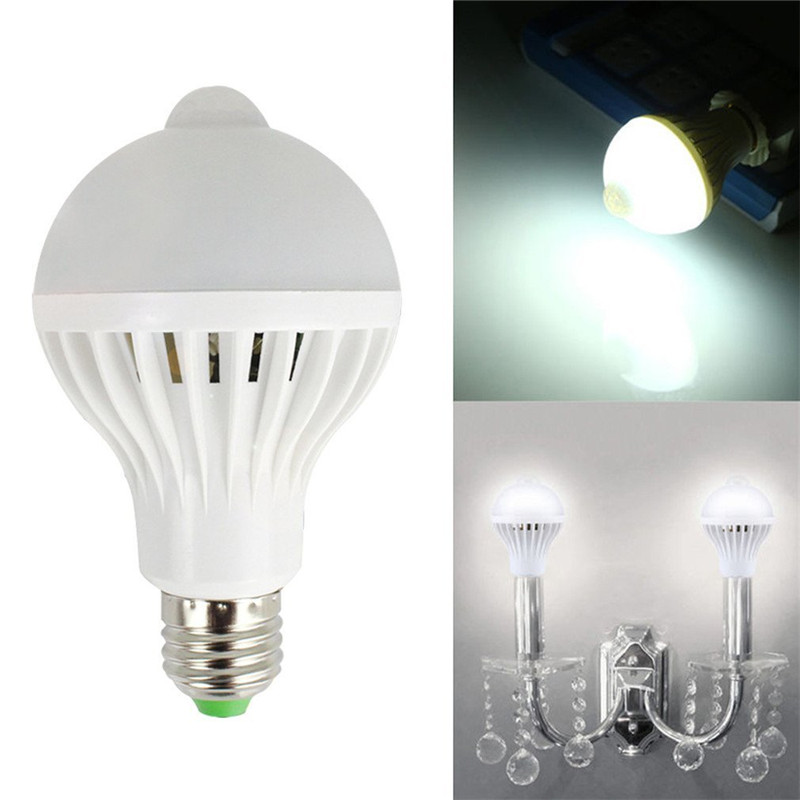 LumiParty LED PIR Motion Sensor Lamp 9W LED E27 Bulb PIR Infrared Body Lamp With Motion  ...
