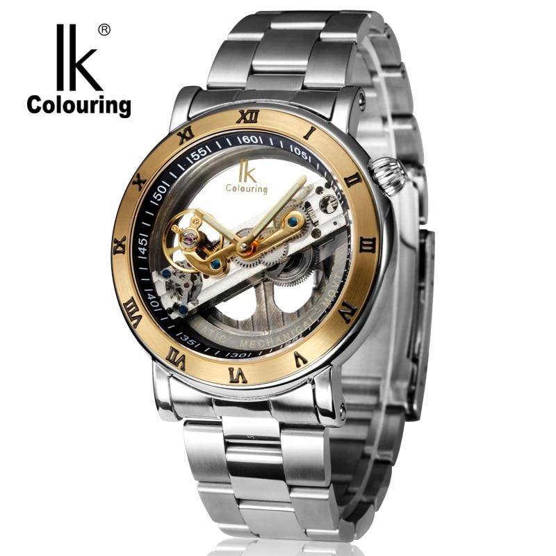 Original  Tourbillon Mechanical Wrist watches men luxury brand business skeleton automatic men self wind Top brand relojes new