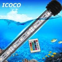 ICOCO 18cm Waterproof Aquarium Light 5050SMD RGB LED Aquarium Fish Tank Submersible Light Lamp With Remote