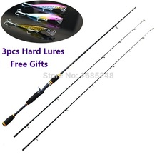1.98m 2.10m 2.40m Legend Fast Action casting rods with M/MH action 2 tips, Full Carbon! Fishing Rod. Vala De Pesca.