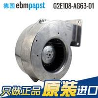 New original ebmpapst G2E108-AG63-01 AC 230V 0.14A 0.16A 30W 35W 168X159X76mm Turbo blower